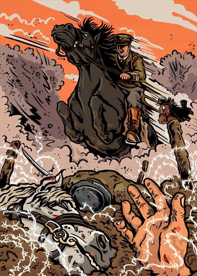 War Horse Mat Roff Illustrator