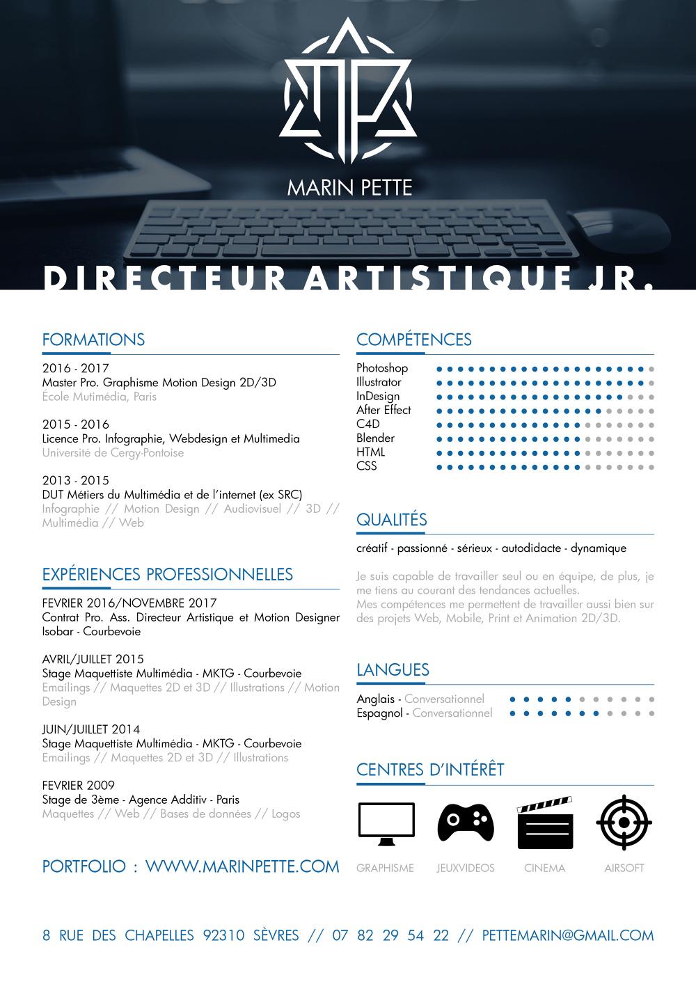 cv graphiste pdf jr71
